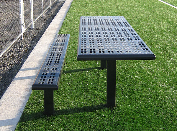 Sports bench table combo