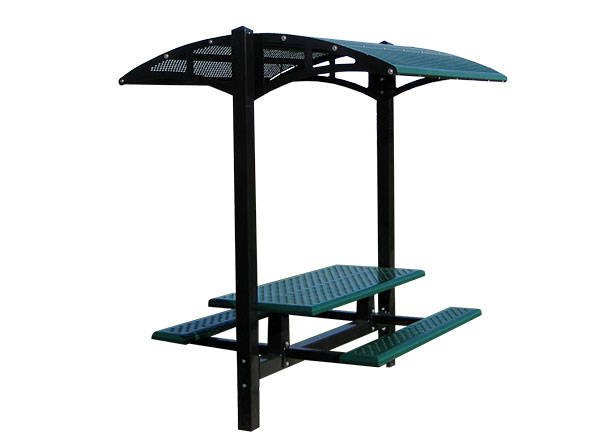 ShadeFurnishings_Dual_Pedestal_Rectangular_PicnicTable Cut