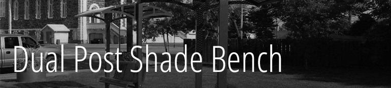 Header_image_title dual post shade bench