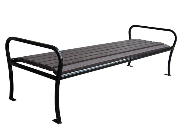 Benches_Parkview_Backless Bench_Wood_Cut