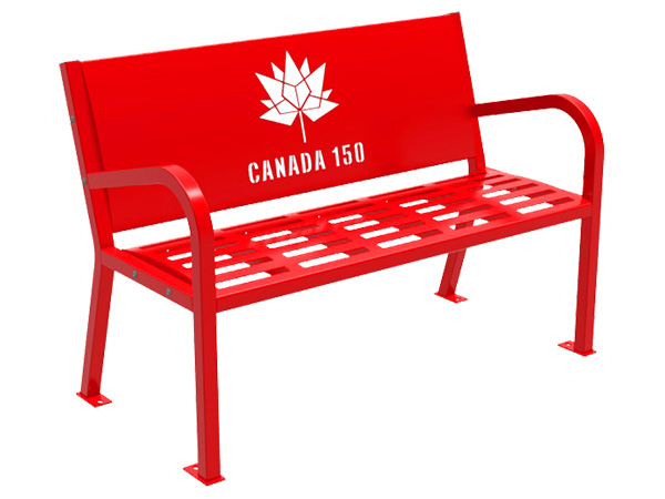 Canada 150 bench red