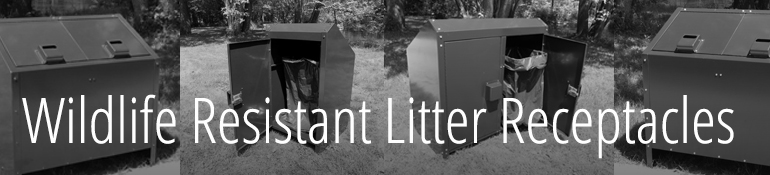 Litter Receptacles_Wildlife Resistant_Title