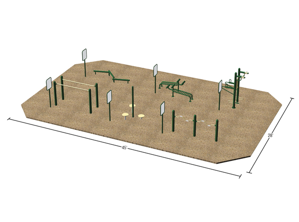 Sample Layout_Fitness Park_With Signs