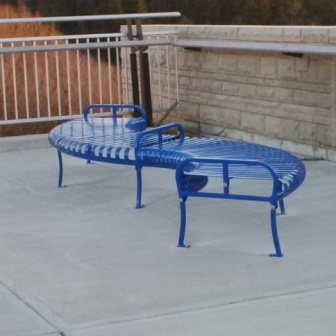 City of Kitchener Curved Bench web